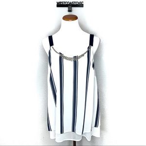 Lane Bryant Layered Stripe Tank Top